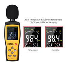 3 In 1 Digital Sound Level Meter Thermometer Hygrometer 30-130 dB Noise Volume Tester with 15000 Groups Of Data Record Function цены
