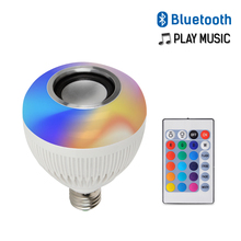 LED Bluetooth Music Remote Control Light Bulbs 7+3W 110V-265V Wireless Color Changing Bulb RGB+White Sound