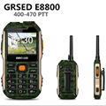 GRSED 8800 mAH E8800 teléfono PTT Walkie talkie IP67 A Prueba de Choques A Prueba de Polvo A Prueba de agua 8800 mAH Batería Grande Antorcha Dual SIM Teléfono a12