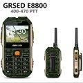 GRSED 8800mAH  E8800 Walkie talkie Waterproof IP67 Shockproof Dustproof phone PTT 8800mAH Big Battery Torch Dual SIM Phone a12