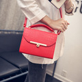 veevanv 2016 new spring stone small package Korean simple shoulder diagonal cross lock bag PU bag