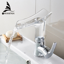 Basin Faucets Waterfall faucet for Bathroom Basin Mixer Tap Single Handle Sink Mixer Tap Deck Mounted Bathroom Torneiras 855013 недорого