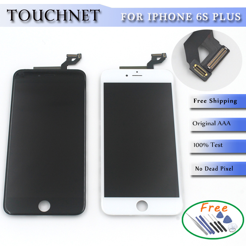 5.5 New LCD For iPhone 6s Plus LCD Display Touch Screen Digitizer Assembly Replacement Black or White Free Shipping