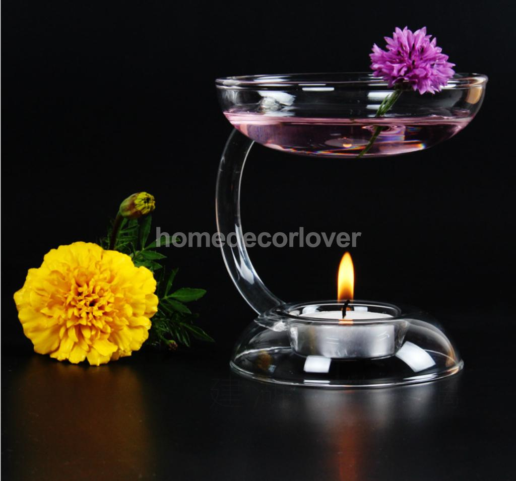 12cm oil burner ceramic blue or pink FREE OIL AND TEALIGHT