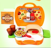 22Pcs Cookware Role Play Pretend Play Toy Premium Pizza Oven Kits In Suitcase Educational Children's Cooking Toy