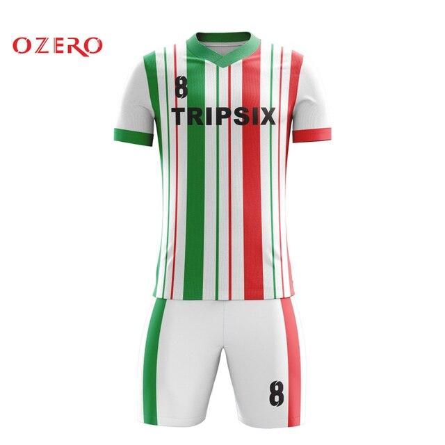 91a0878b12c56 De diseño personalizado hombres atléticos corto camisetas Venta de camisetas  de fútbol Verde Negro Chico jersey