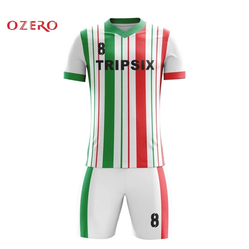 sublimation custom design men athletic short jerseys sale football shirts black green kid soccer jersey