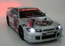 S007 S15 1/10 1:10 PVC carrocería pintada para 1/10 manía DEL RC racing car 2 unids/lote envío gratis