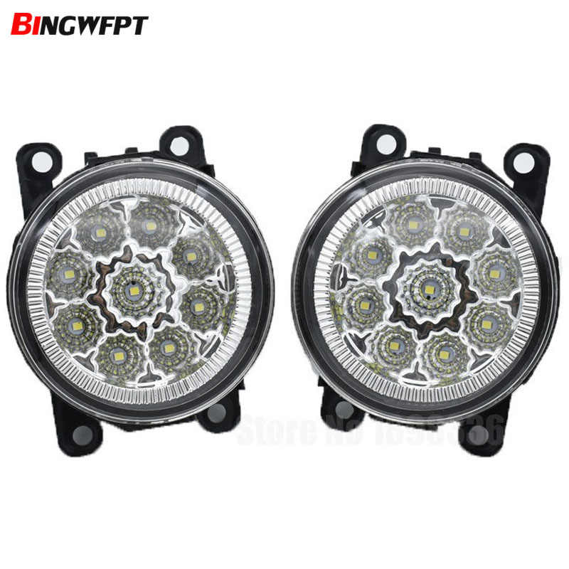 Car Accessories 90MM LED fog Lights fog lamps 4.5Wx2 For Pathfinder Closed Off-Road Vehicle R51 2005-2010 High Brightness