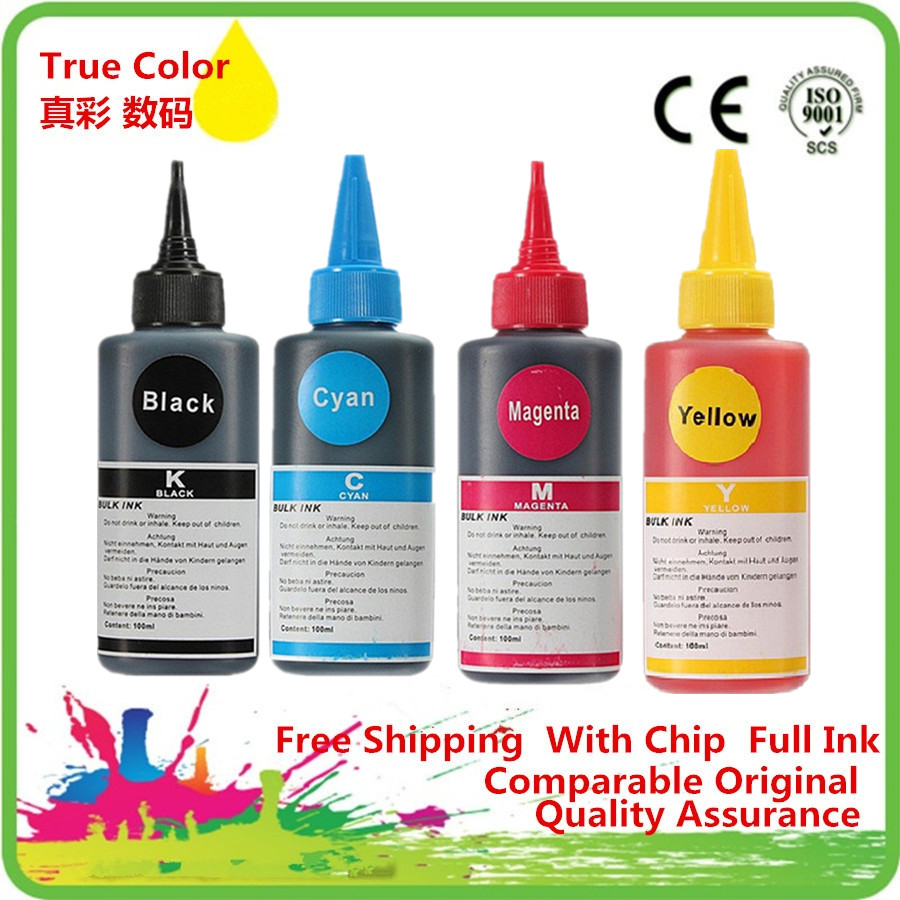 High Quality Dye Ink Kit T2001 T200XL For <font><b>Epson</b></font> <font><b>XP</b></font>-100 <font><b>XP</b></font>-200 <font><b>XP</b></font>-300 <font><b>XP</b></font>-<font><b>400</b></font> WF2520 WF2530 WF2540 Printer CISS Cartridge image
