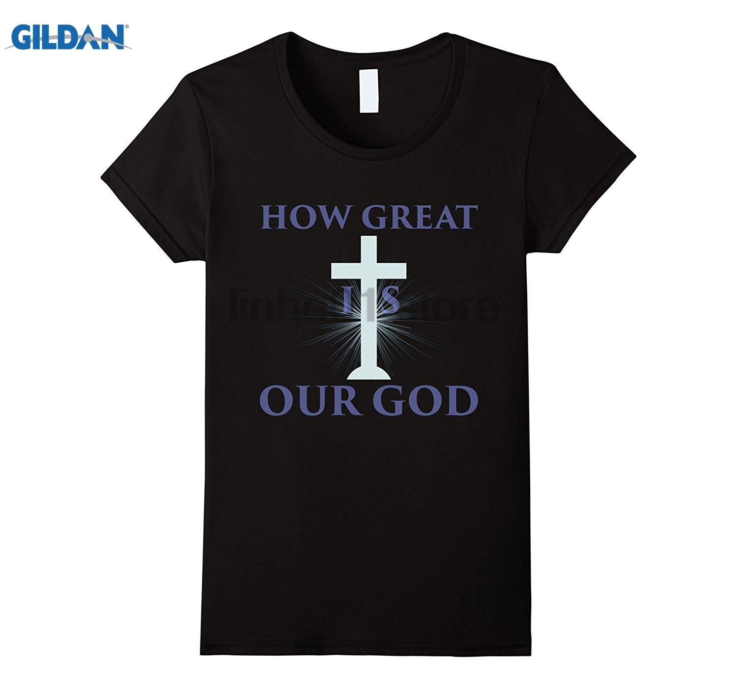 GILDAN How Great is Our God - Christian Religious T-Shirt glasses Womens T-shirt ...