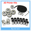 3d printer reprap prusa i3 movement kit GT2 belt pulley 608zz bearing  lm8uu 624zz bearing 3D printer