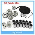 Impressora 3d reprap prusa i3 kit movimento cinto GT2 polia 608zz lm8uu rolamento 624zz rolamento impressora 3D