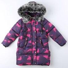 f7b357affa8c9 Nouveau hiver russe épais chaud bébé filles hiver enfants coton bas manteaux  Camouflage veste fourrure capuche enfant Parkas ves.