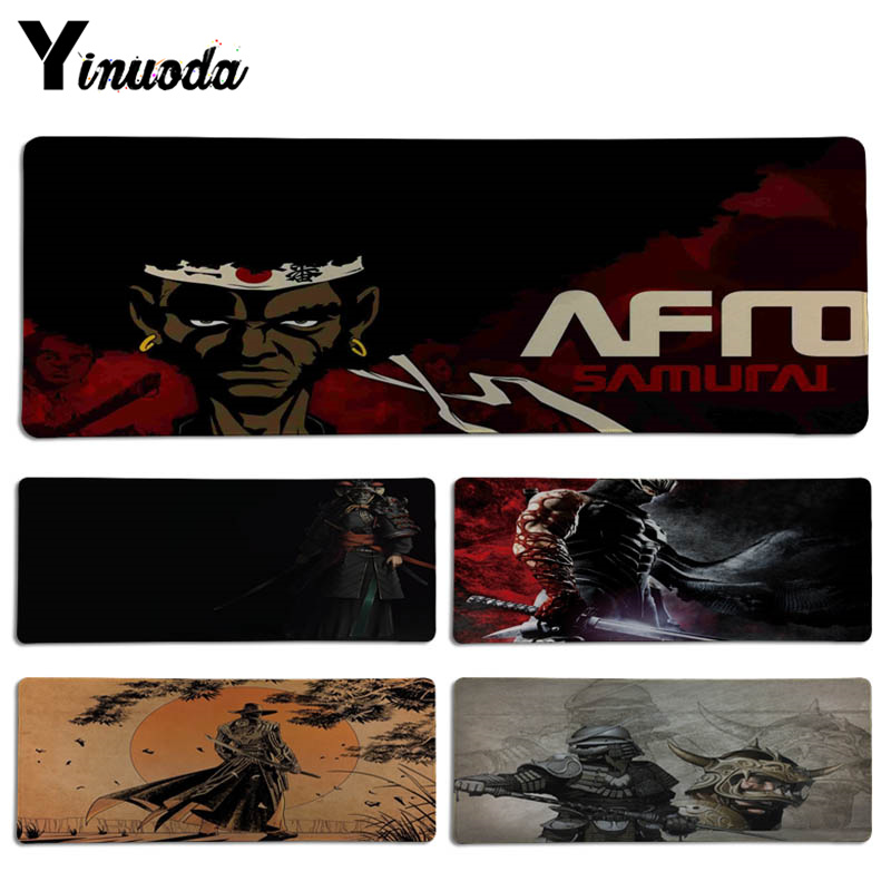 Yinuoda Personalized Cool Fashion Samurai Keyboard Gaming MousePads Size for 300*700*2mm and 300*900*2mm Game Mousepad