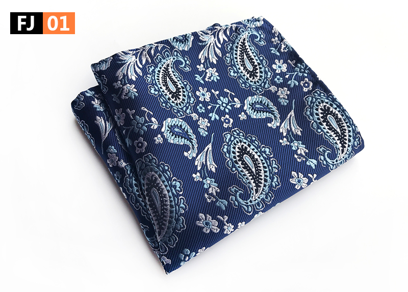 25x25cm Big Size Men Pocket Square High Quality Woven Handkerchief