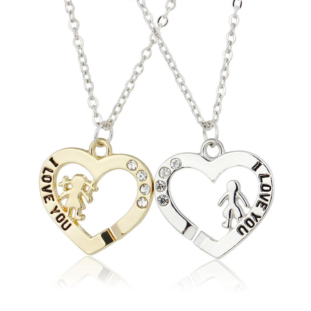 Corée ornements amour Split collier une paire le soir de la septième lune amant Section colar bijoux CHL559 erd xiangl choker