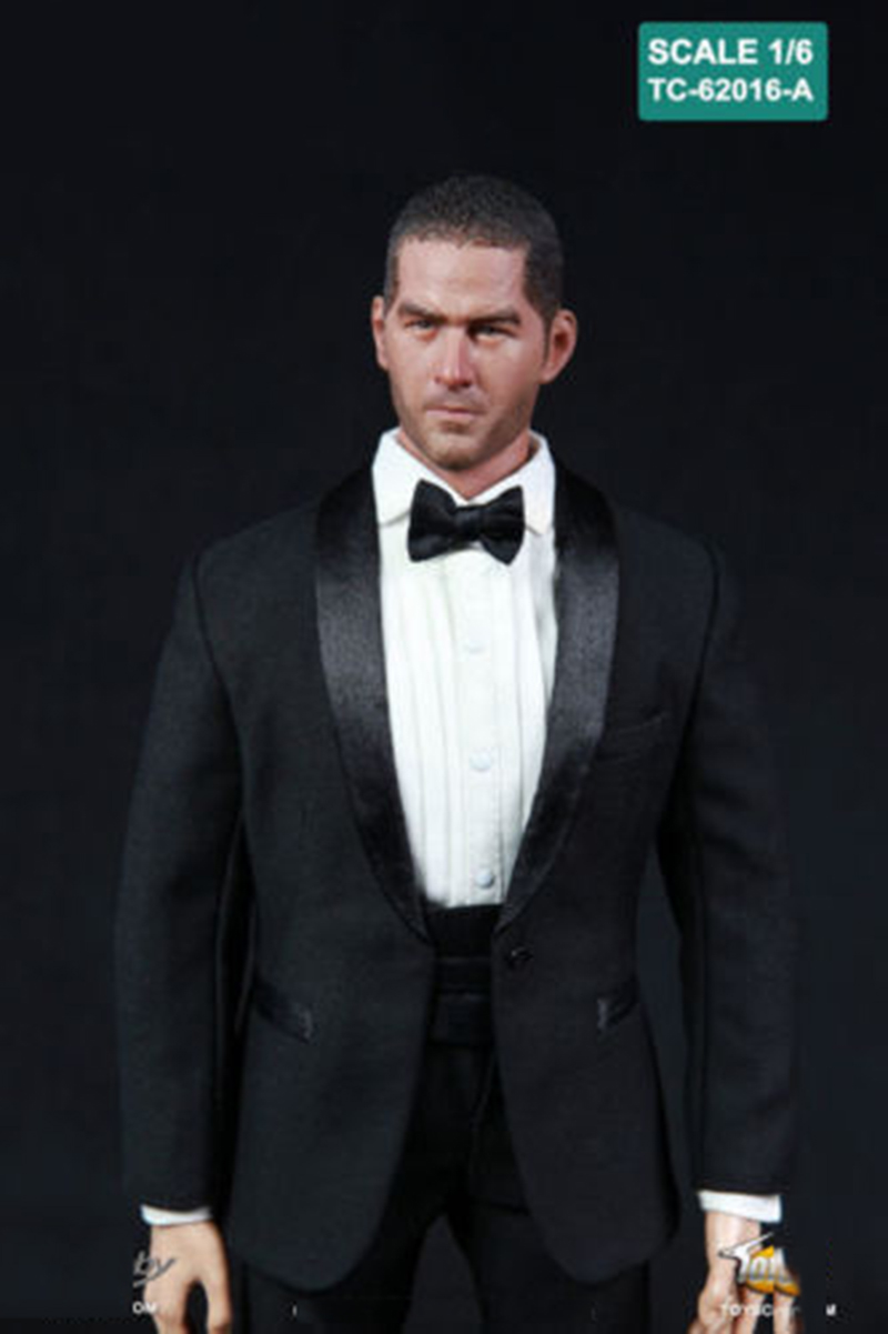 1 6 Scale TC 62016 TTL Black Tuxedo Suits Set Clothes Fit For 12 quot Man Body Figure in Action amp Toy Figures from Toys amp Hobbies