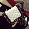 2017 tamanho mini bolsa cadeia primavera xadrez lockbutton moda das mulheres de todos os jogo saco pequeno ombro saco saco do mensageiro ocasional