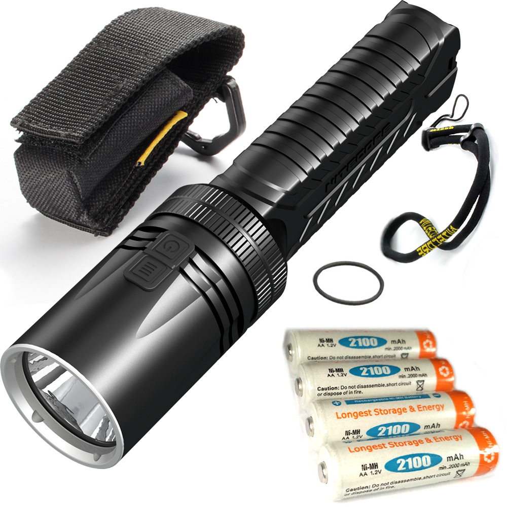 все цены на NITECORE EA42 4xAA 2100mAh Rechargeable Battery 1800LMs CREE XHP35 HD Flashlight Outdoor Hiking Rescue Portable Waterproof Torch