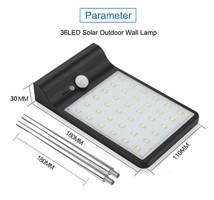 450lm 36 led pir sensor movimento lâmpadas
