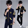 Retail children's sports suit boys and girls 2-16 years old children big virgin suit uniforms Spring clothes Jacket + Trousers 5