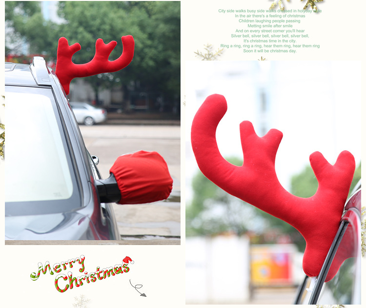 3pcs Christmas Present Car Ornaments Antlers Fashion Merry Christmas