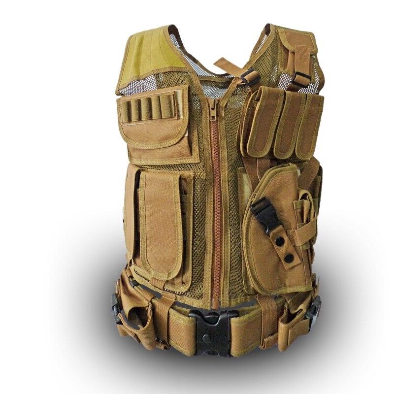 Multifunction summer breathable mesh vest CS field protective equipment