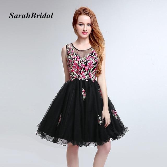 Vestido corto fiesta floral