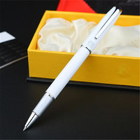 1pc Lot Picasso 916 White Roller Ball Pen Malaga Silver Clip Stationery Canetas Brand Ball Pens