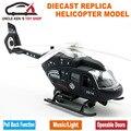 22 Cm Helicóptero Militar Miniaturas, avión maqueta Réplica, Juguete de Metal, niños Presentes Con Retirarse Función/Luz/Sonido