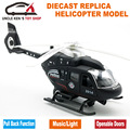 22Cm Diecast Military Helicopter, Airplane Replica Scale model, Metal Toy, Children Present With Pull Back Function/Light/Sound