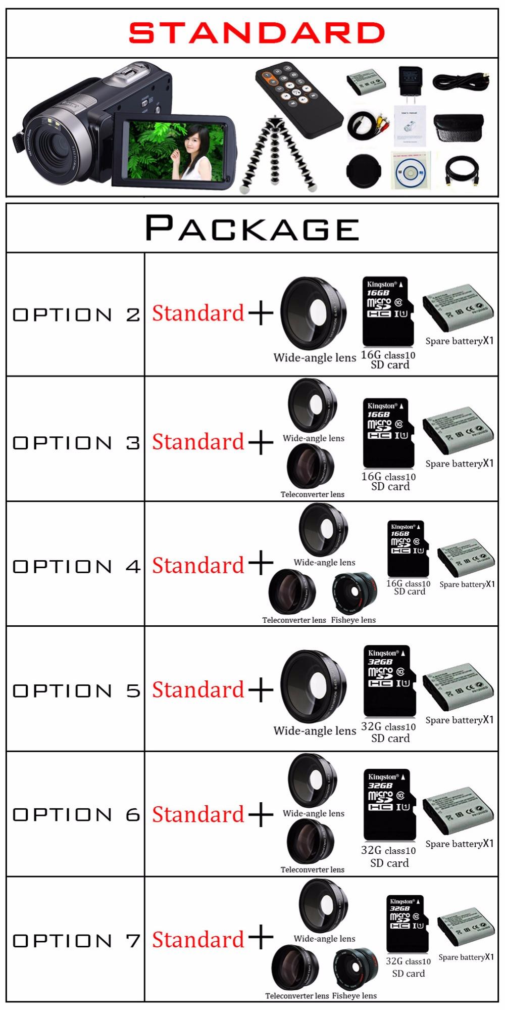 Marvie 17 New Digital Camera Full HD 1080P 16x Zoom Recorder Camcorder Mini 3'' Touch DV DVR 24MP Video Camera 301 1