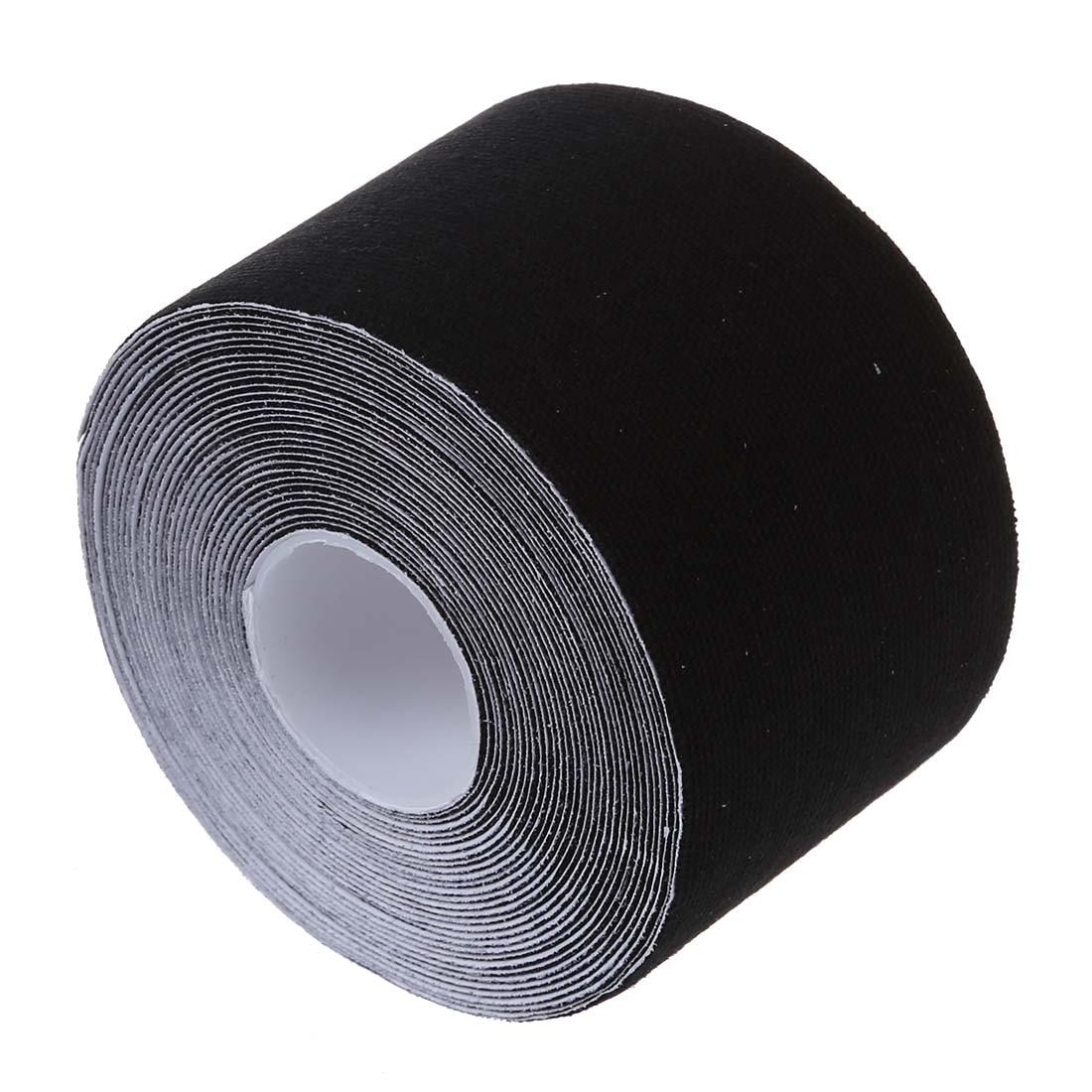 5 компл. продажа 1 рулон Спортивной Кинезиологии мышцы уход Фитнес спортивные здоровья ленты 5 м * 5 см-черный