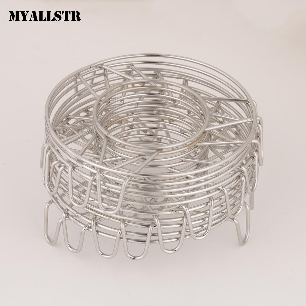 Basket Multi-Function 10pcs Stainless Steel Stand Circle Steamer Rack Triangle