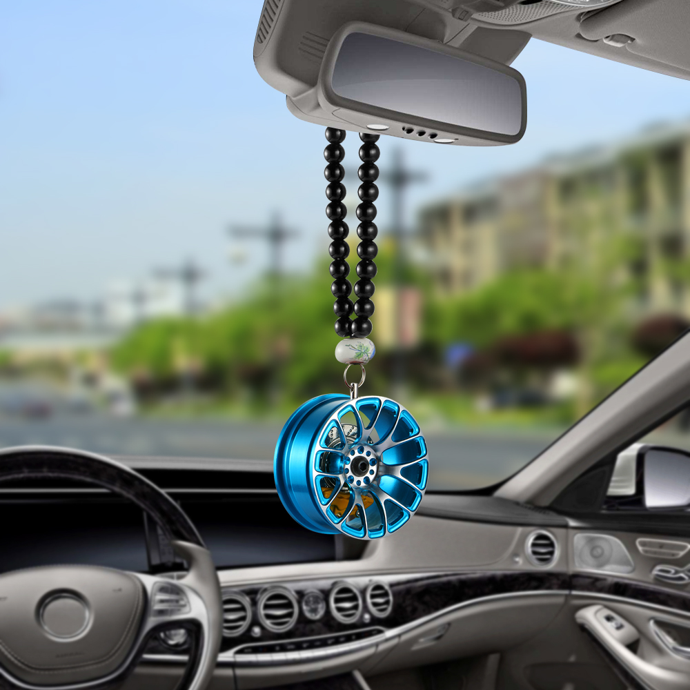 Car Pendant Decoration Metal Wheel Hub Hanging Ornaments Auto
