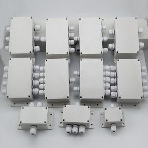 Image 2 - ABS Wasserdichte Anschlussdose Verbindung Outdoor Indoor Verteilung Überwachung Box Elektrische Gehäuse Fall Mit Kabel Drüsen