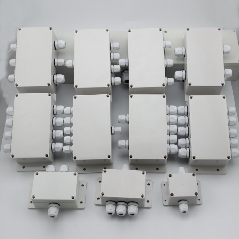 Image 2 - ABS Waterproof Junction Boxes Connection Outdoor Indoor Distribution Monitoring Box Electric Enclosure Case With Cable Glands-in Connectors from Lights & Lighting