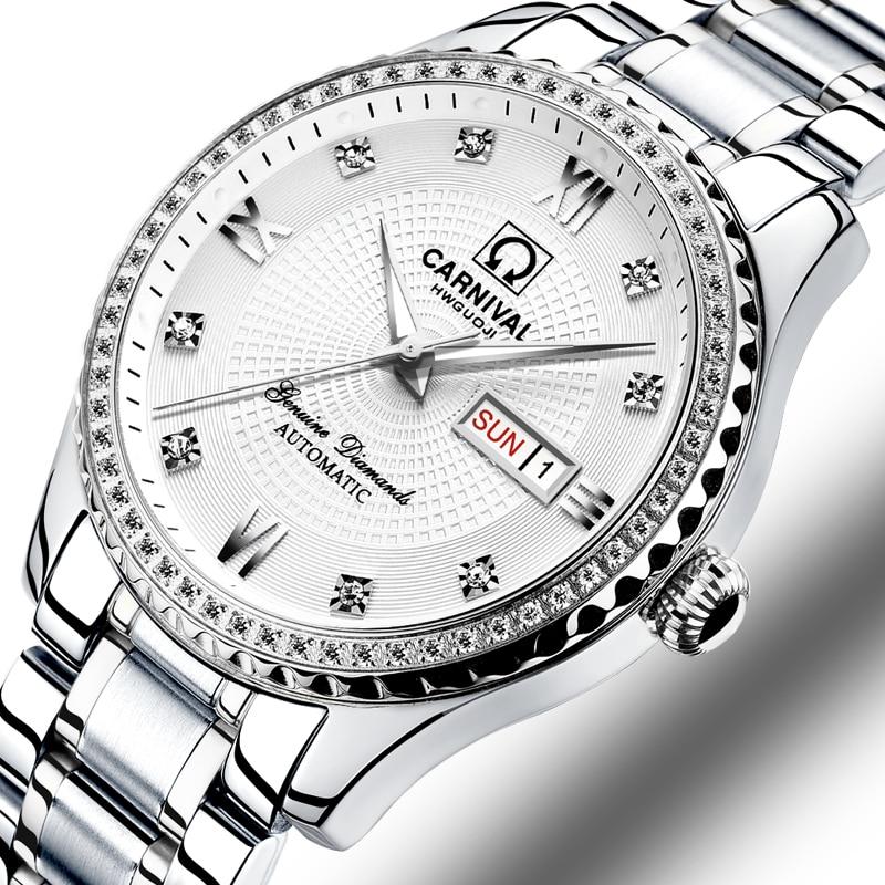 Carnival Watch Men Automatic Mechanical Brand Luxury Men Watches Luminous Sapphire reloj hombre Waterproof Men Watch C-8629-8 все цены
