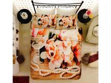 Комплект постельного белья двуспальный-евро VIRGINIA SECRET, Bamboo, цветы, бежевый, 3D