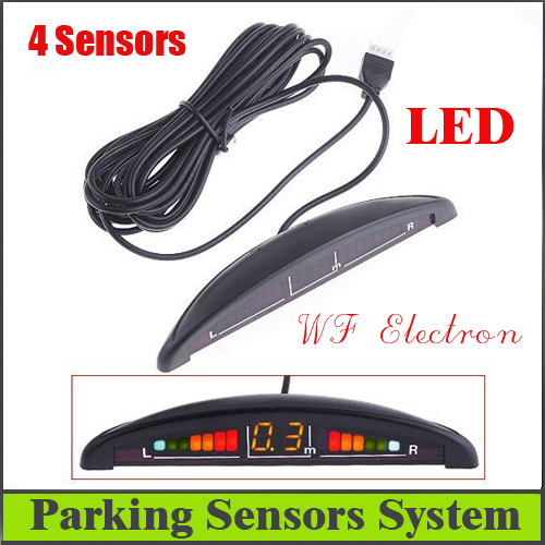 Car Reversing Car parking sensors LED Display Parking Reverse Backup Radar w/4 Sensors car parking system,free shipping R7 auto reversing radar 89341 28480 a0 is suitable for toyota estima parking sensors free delivery