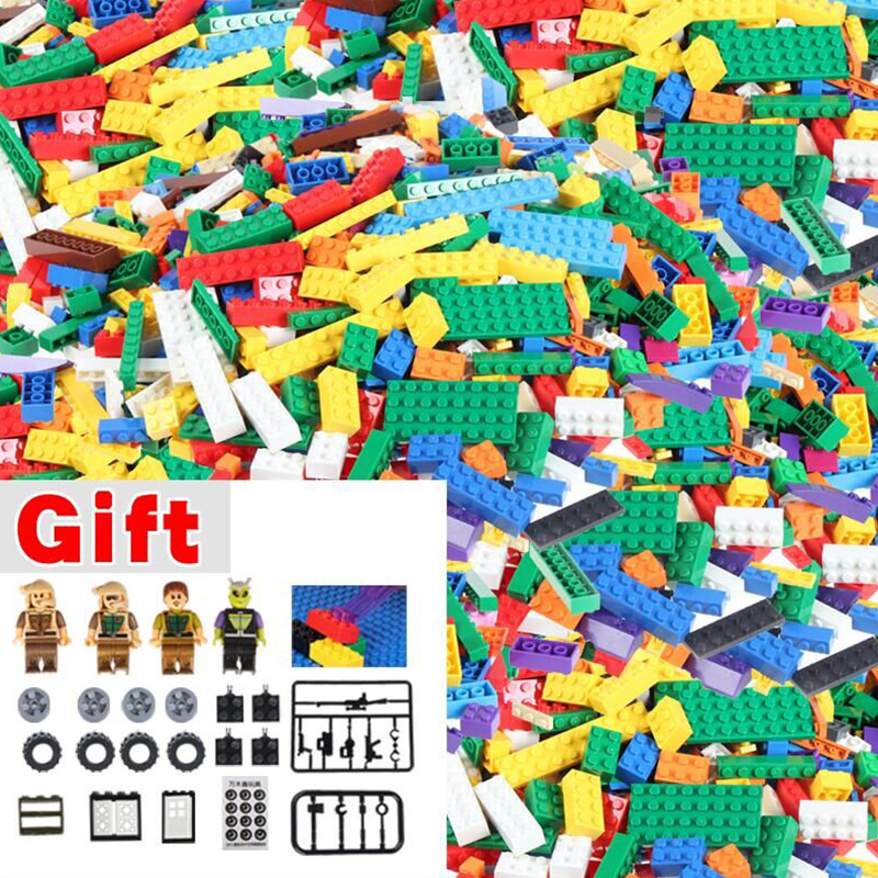 1000 pcs Bulk Bricks Blocks Compatible Sets DIY Building Bricks Educational Toys Muliticolors Bricks Accessories 1000 pcs diy creative brick toys for child educational building block sets bulk bricks compatible with major brand blocks