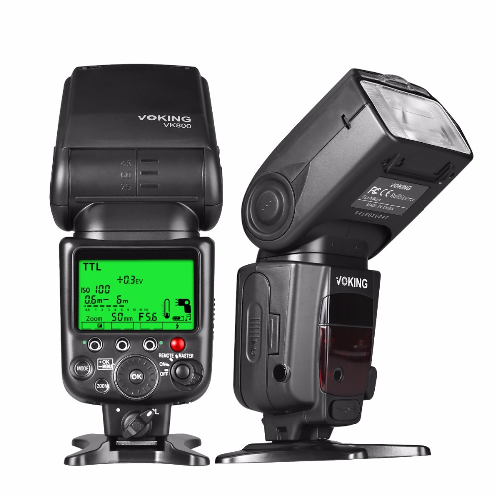 Voking VK800 I TTL External Camera Flash Slave Speelite for Nikon Digital SLR Cameras voking speedlite speedlight camera flash vk900 for nikon digital slr cameras