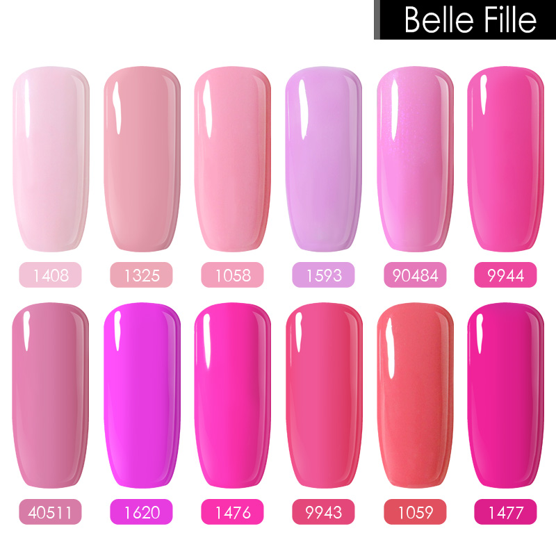 Belle Fille10ml Nail Gel Polish Vampire Party Makeup Uv Led Lamp Soak Off Blood Red Wine Rose Blue Green Pink Color In From Beauty