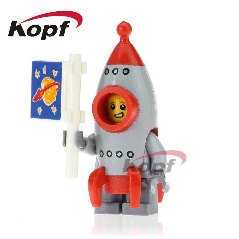 Single Sale Rocket Boy Chicken Suit Gingerbread Man Inhumans Royal Family Super Heroes Building Blocks Children Gift Toys PG1027
