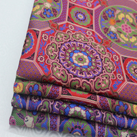 Mongolian robe Tibetan clothing fabric cushion pillow decorative fabric woven brocade silk jacquard woven brocade