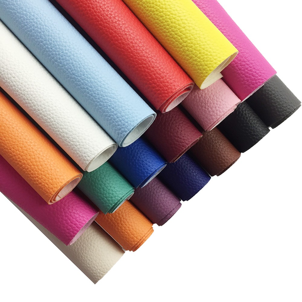 20*30cm Big Litchi Faux Synthetic Leather Fabric Fax Leather Sheets Se