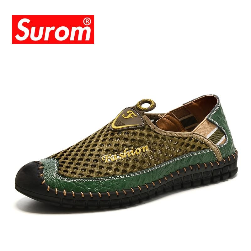 SUROM 2018 Pantofi pentru bărbați obișnuiți Mâini de primăvară - Pantofi bărbați