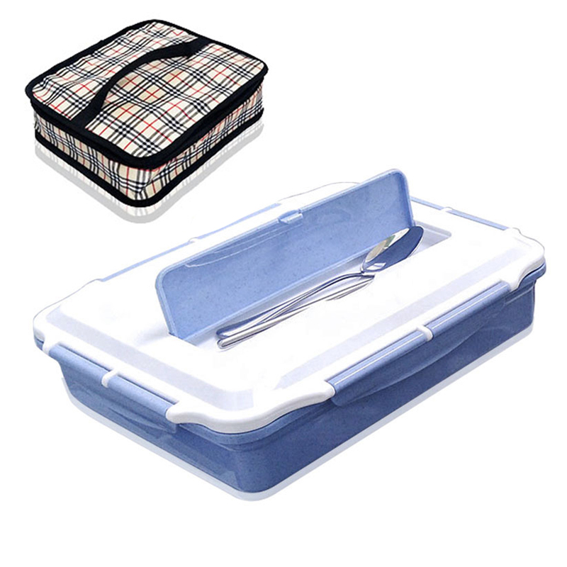 Large Food Container Picnic Travel School Adult Portable Japanese Lunchbox Bento Plastic Thermal Lunch Box 304 Stainless Steel