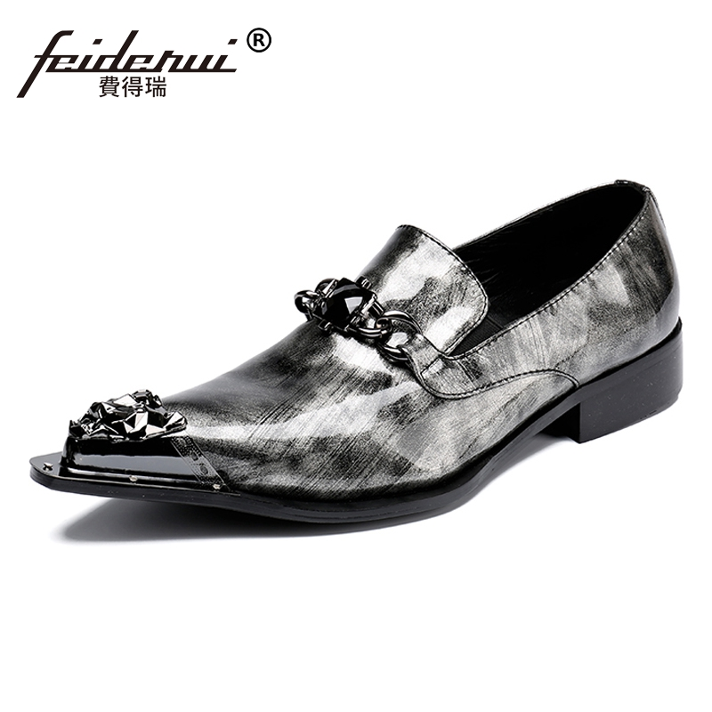 Plus Size High Quality Height Increasing Man Wedding Loafers Patent Leather Pointed Toe Rhinestone Mens Rocker Shoes SL35Plus Size High Quality Height Increasing Man Wedding Loafers Patent Leather Pointed Toe Rhinestone Mens Rocker Shoes SL35